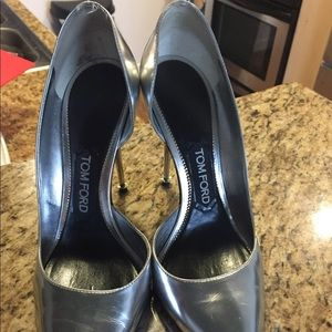 Silver Tom Ford Pumps